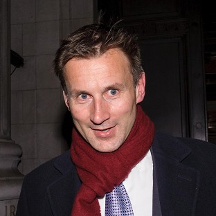 Jeremy Hunt leaves the Department of Culture, Media and Sport in central London