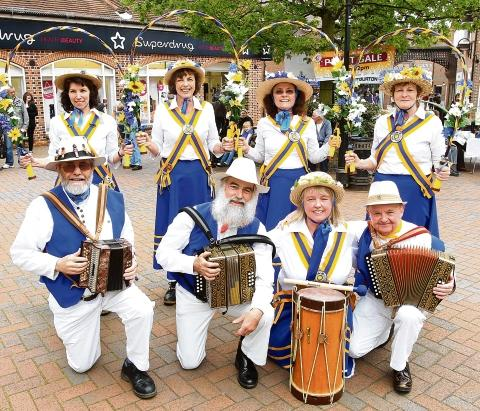 Witham: Clog dancers team up in town centre