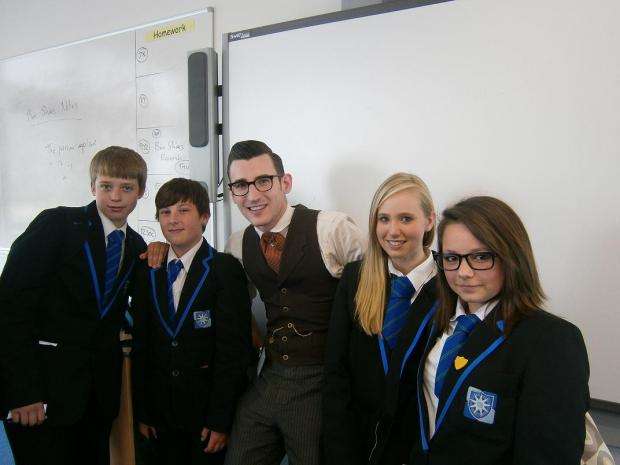 Ben Shires with pupils