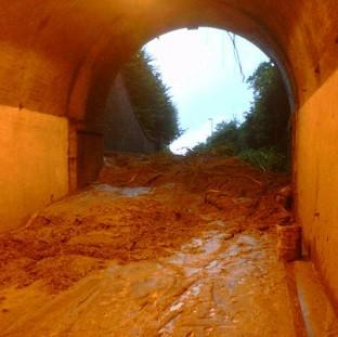 Beaminster Tunnel, Dorset, where two people were killed in a landslide