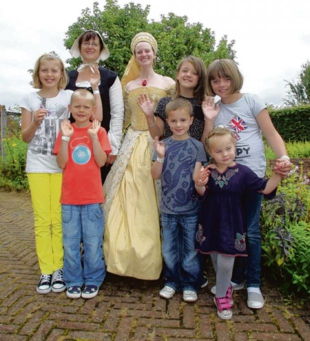 Costumed characters meet visitors at Cressing Temple