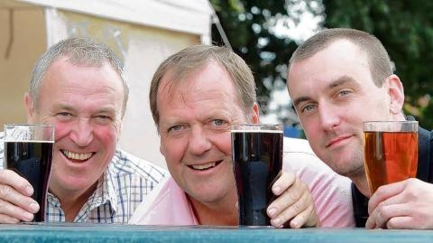 John Chick, Bob Ward and Martin Lawrence sample some of the ales