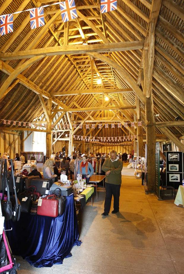 Inside one of the barns at Cressing Temple