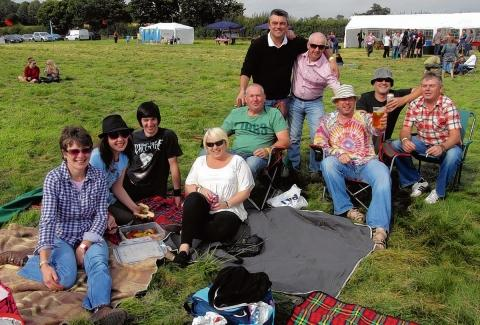 Festival goers soak up the atmosphere
