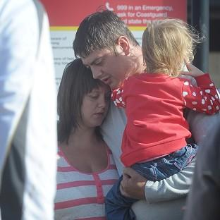 Rachel McCollum and Darren Cecil attempted to save their son after he slipped