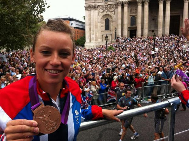 Braintree: Hockey star Chloe Rogers shows off Olympic medal at parade
