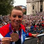 Braintree and Witham Times: Braintree: Hockey star Chloe Rogers shows off Olympic medal at parade