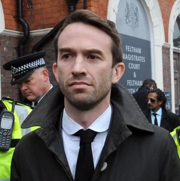 Trenton Oldfield leaving Feltham Magistrates' Court in west London in April