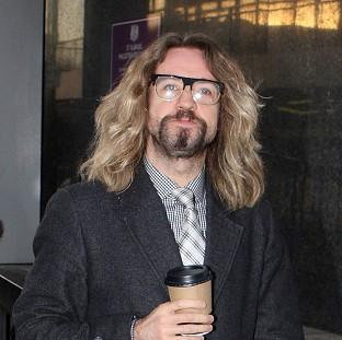 Justin Lee Collins arrives at St Albans Crown Court, Hertfordshire