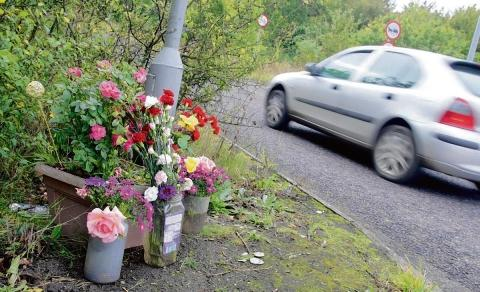 Tributes left at the scene where Nimmi Shah died