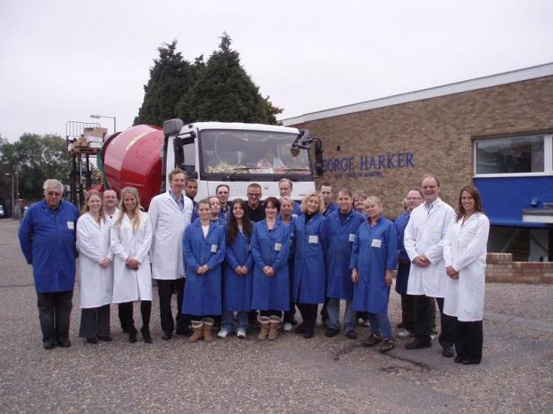Braintree and Witham Times: Heston Blumenthal with staff at George Harker and Company