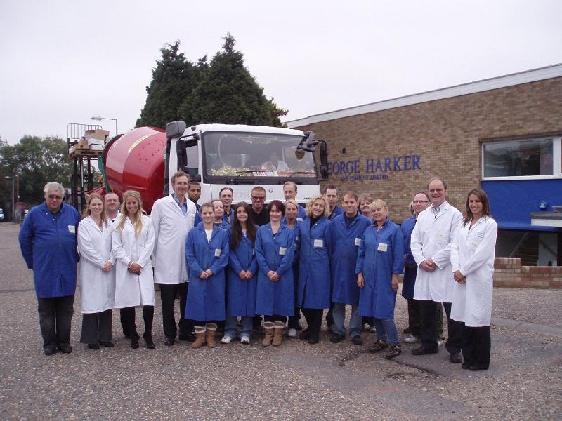 Heston Blumenthal with staff at George Harker and Company