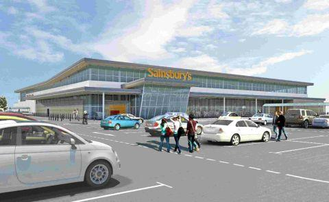 Sainsbury's want to build a new store off Pods Brook Road.