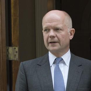 Foreign Secretary William Hague said work with the Syrian opposition coalition was a 'high priority'