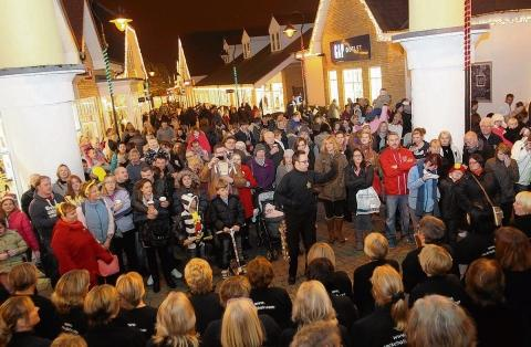 The Rock Choir entertain the crowds