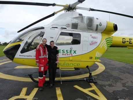 Braintree: Crash survivor reunited with air ambulance crew