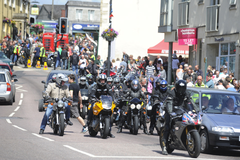 Join a motorbike and scooter rally for soldiers