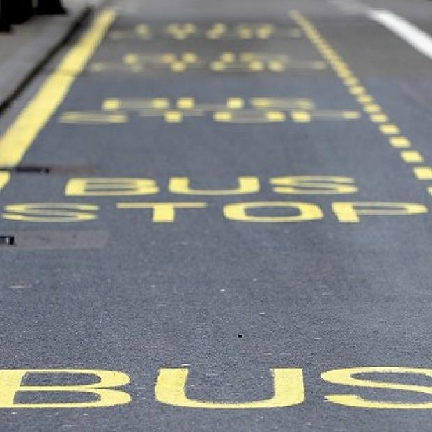 Police said a pensioner took brave action to steer a bus after the driver took ill