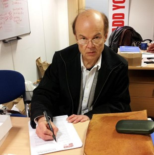 Christopher Jefferies signs a letter to MPs asking them to support the Leveson recommendations on press regulation in full (PA/Hacked Off)
