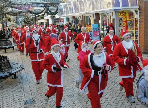 Braintree and Witham Times: Santas on the run