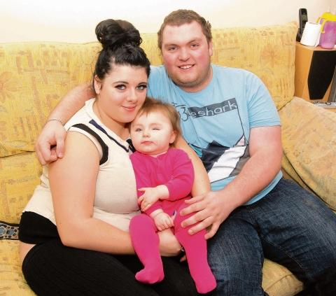 Steven Hardy, Luci-Mae Murden and their daughter Amelia-Rose