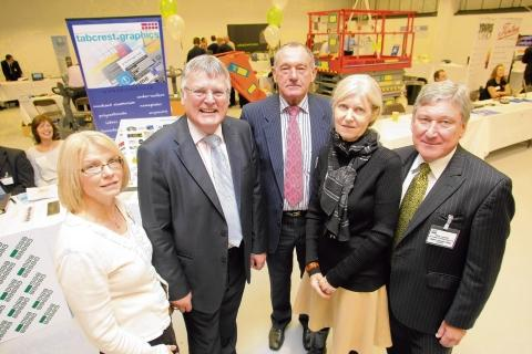 Graham Butland, second from left, at a recent business event