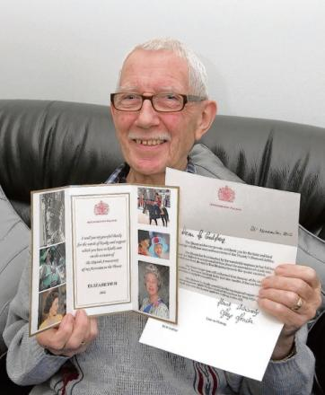 Bernie Godfrey and his letter from the Queen