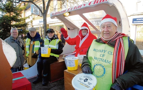 Santa and Witham Rotary Club members