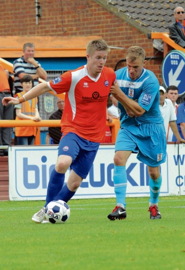 Michael Gash was a popular figure when appearing in Braintree colours earlier in the season, but he scored against the Iron when he faced them on Boxing Day back in Cambridge United's ranks. Picture: ALAN STUCKEY