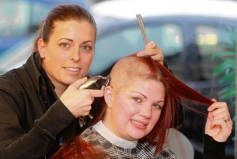 Braintree and Witham Times: Jodie Barden gets a close shave