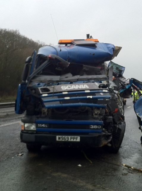 UPDATE: A12 shut after crash between HGV and bus