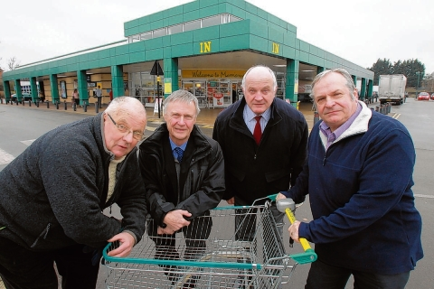 Councillors Paul Ryland, Michael Lager, Bill Rose and Phil Barlow, who are all in favour of the Morrisons expansion