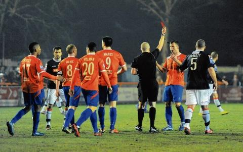 Matt Paine was shown a red card in Braintree's win against Luton Town, but he is now ready to return from suspension. Picture: NEIL DADY