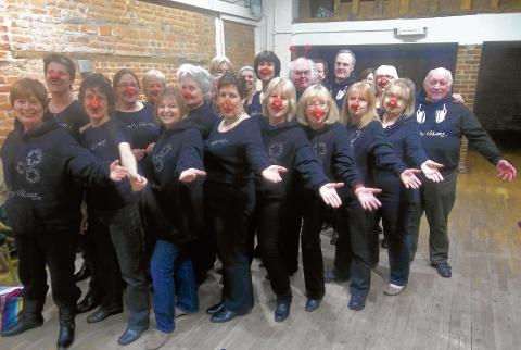 Some of the Witham Funky Voices singers