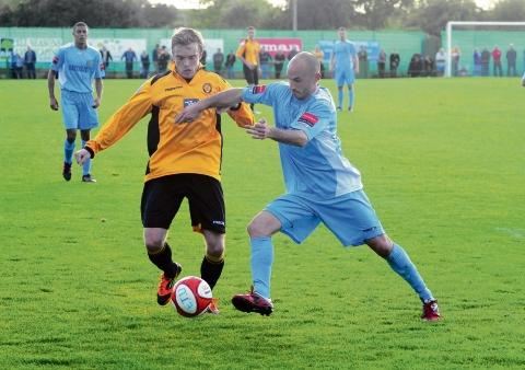 Braintree and Witham Times: Kris Newby scored a late goal at Redbridge to earn Witham a draw.