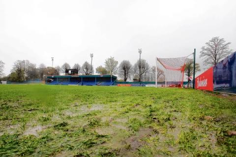 Braintree have suffered with a waterlogged pitch in recent years at the Amlin Stadium, but still feel grass is the surface of choice for playing football.