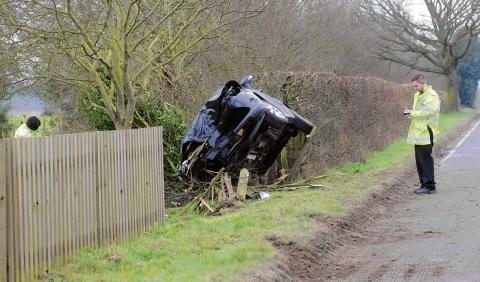 Witham: Driver implaed in horror smash