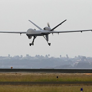 Anti-war protestors are to voice their opposition to the UK's use of armed drones in Afghanistan (AP/Eric Gay)