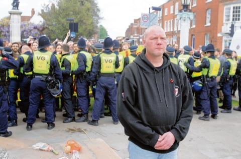 Witham: Former soldier leads march as EDL clash with protestors
