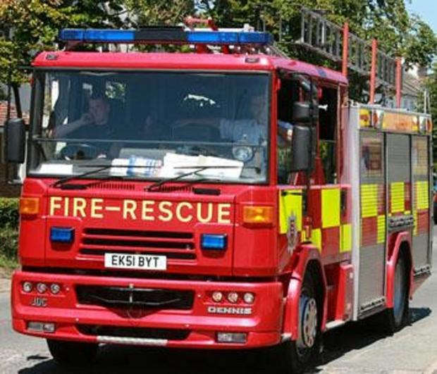 Fire crews called to sports car blaze on A120