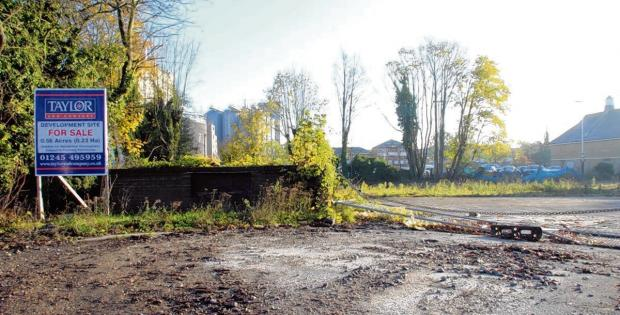 Braintree and Witham Times: The Eckard House site.