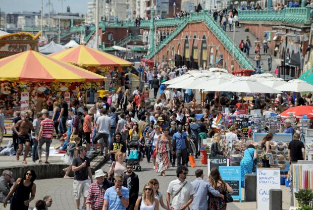Braintree and Witham Times: Traders on Brighton beach will be hoping for similar summer scenes