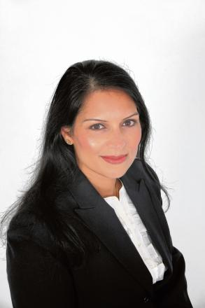 Witham MP Priti Patel