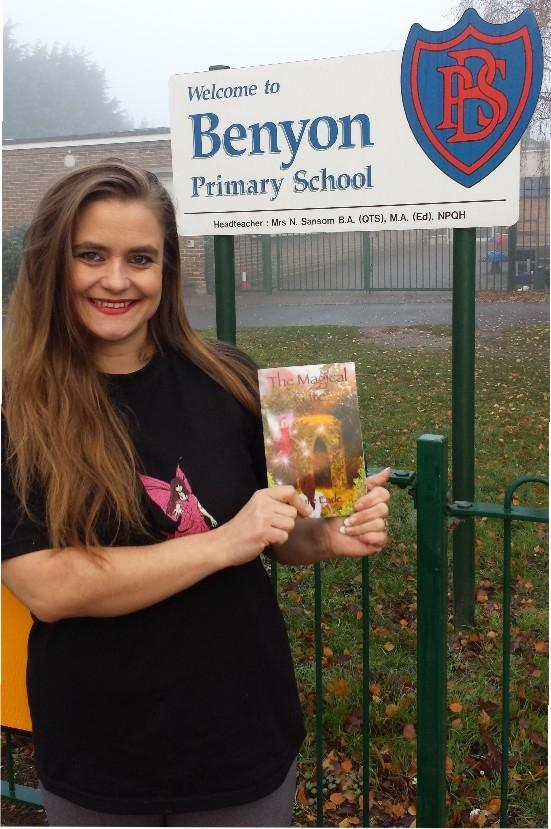 Author Julie visits school