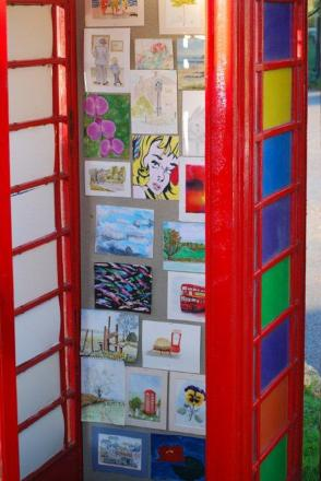 The phone box as it was used before Mr Boyd-Wallis moved out of Great Braxted