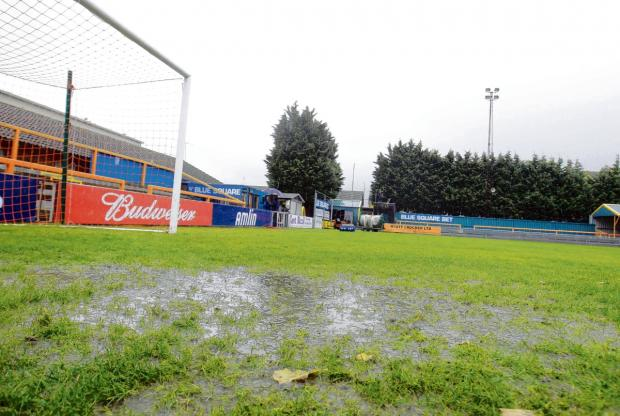 The Amlin Stadium pitch has failed an inspection ahead of tonight's game against Cambridge United. Picture: NIGEL BROWN