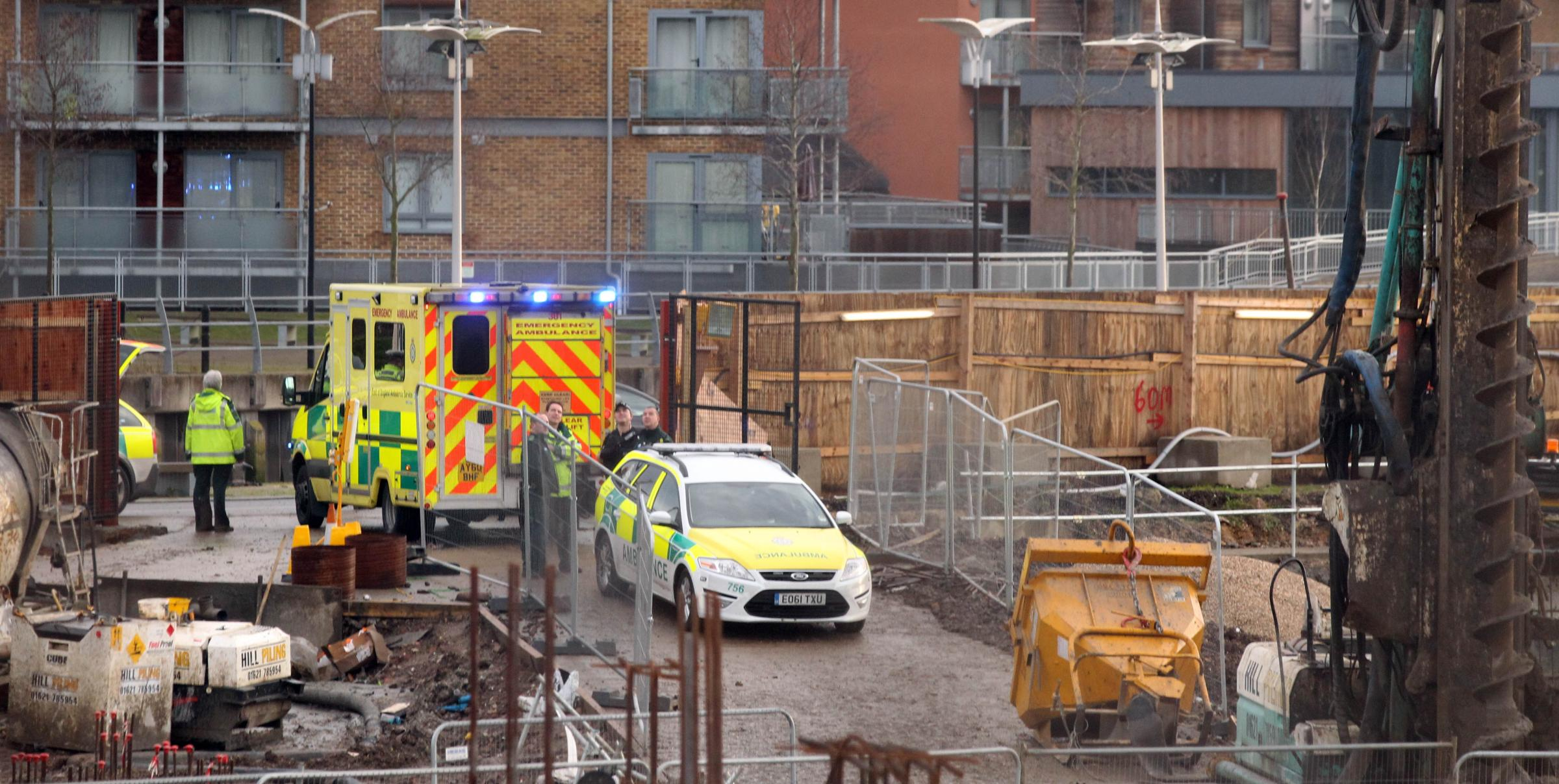 Man dies at industrial site in the Hythe.
