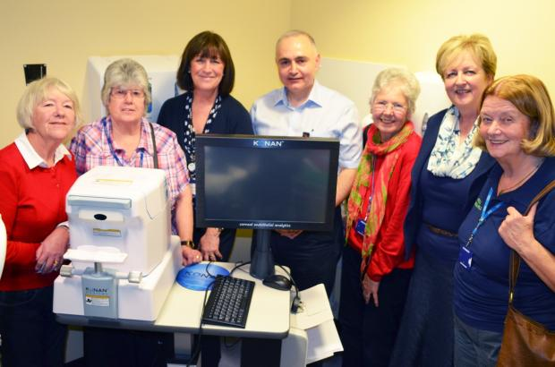 Braintree and Witham Times: Hospital staff and volunteers from Friends at Broomfield Hospital with the equipment