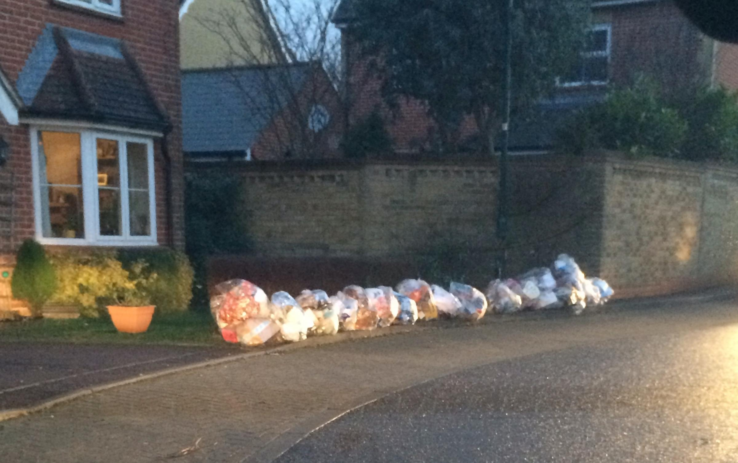 Residents fume as late collections leave streets littered