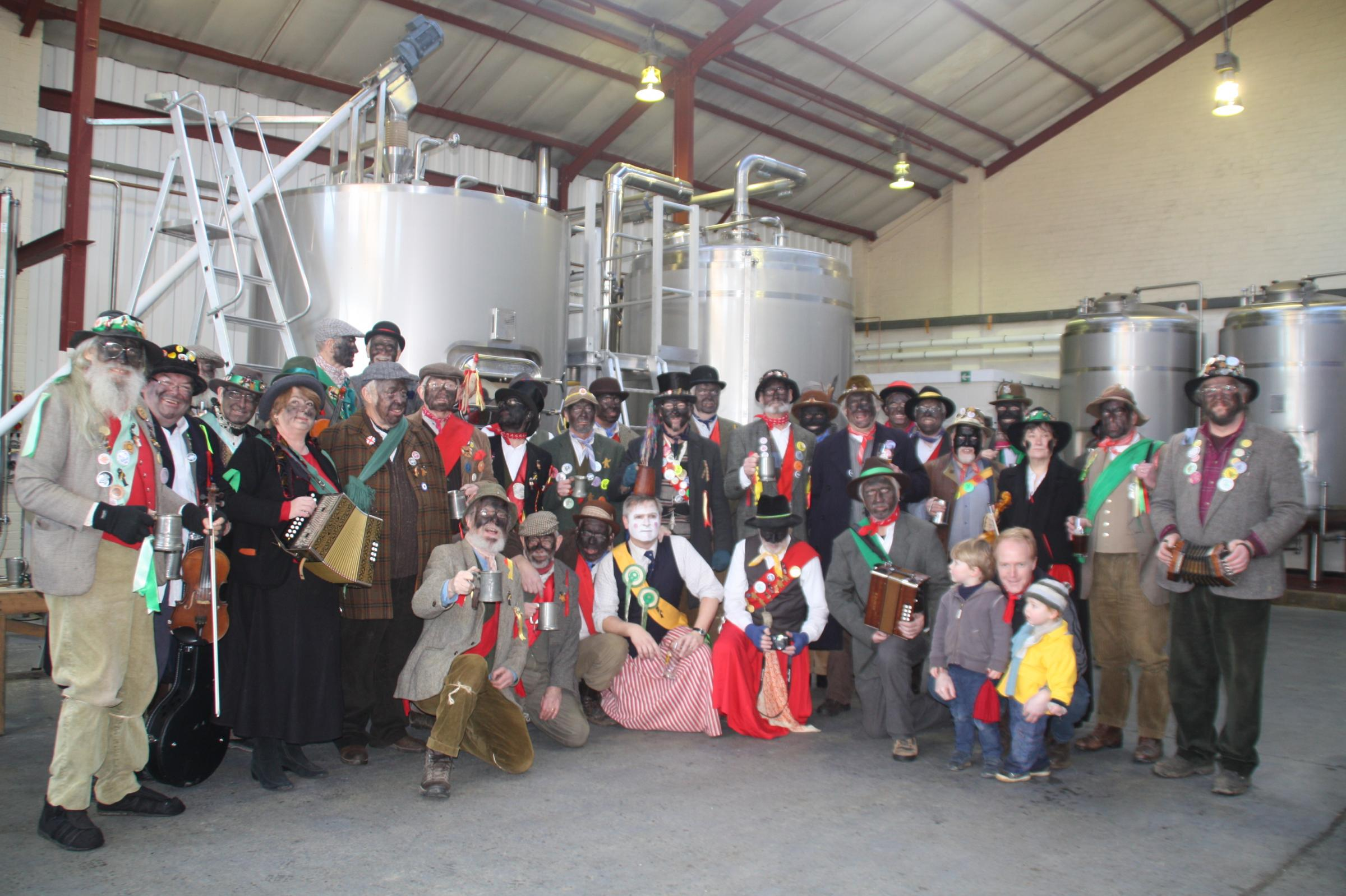 Traditional dancing and singing marks Plough Monday at brewery